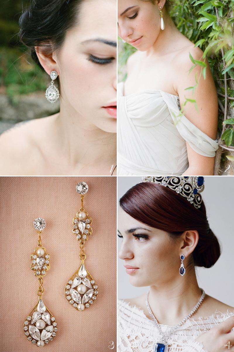 20 flattering bridal earrings for every face shape! - praise wedding