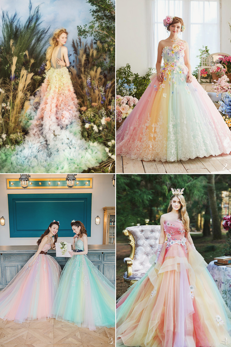 24 Wedding Gowns Featuring Romantic Spring Color Combos! - Praise ...