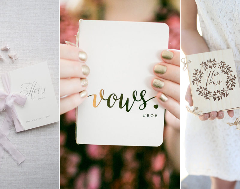 12 Customized Vow Booklets and Journals To Keep Your Promises!