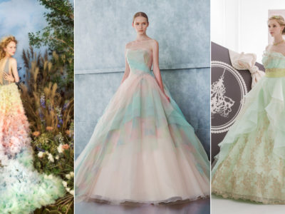 24 Wedding Gowns Featuring Romantic Spring Color Combos!