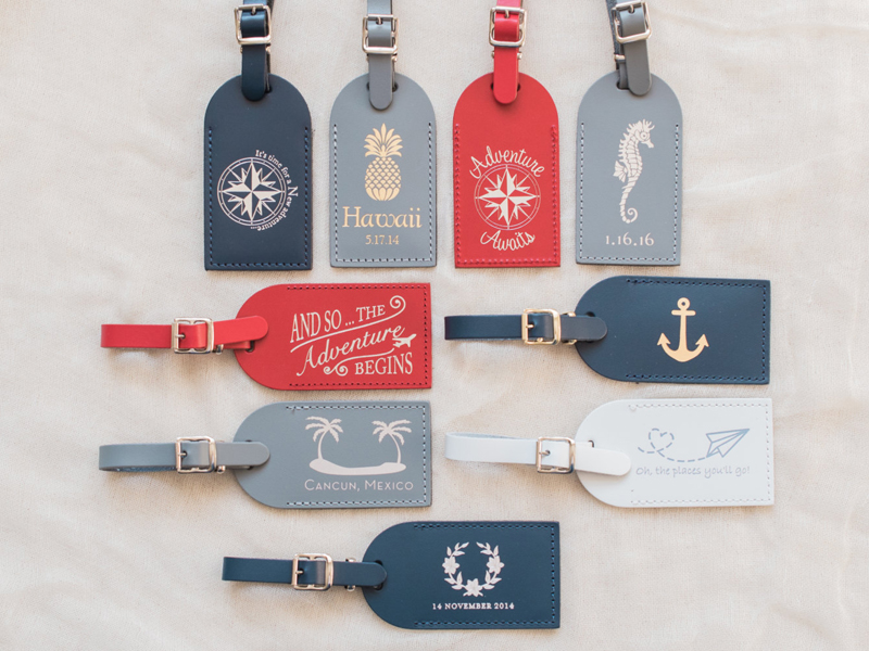 01-Foil Pressed Leather Luggage Tags