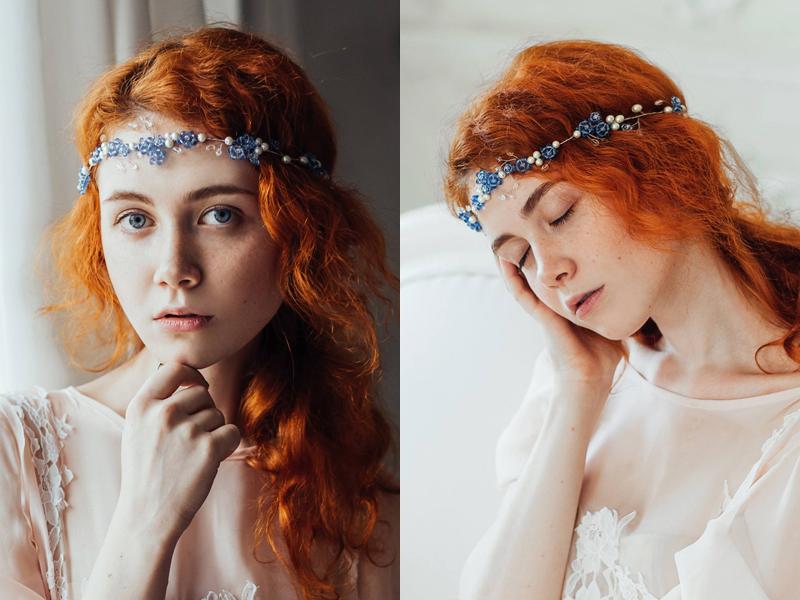 02-Blue Crystal Wedding Wreath1