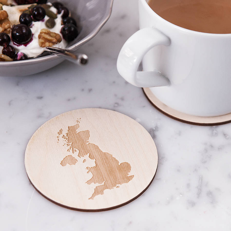 02-Personalised Map Drinks Coaster