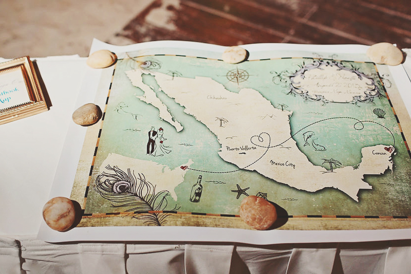 02-Wedding Guest Book Map