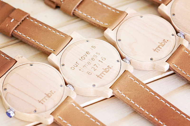 03-Our Love is Timeless - Engraved Wood Watch