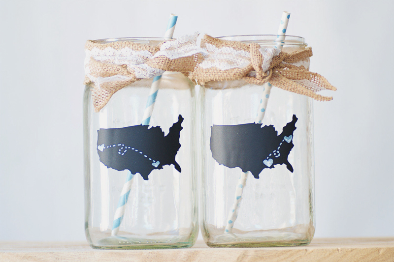 04-Love Map Chalkboard Mason Jars