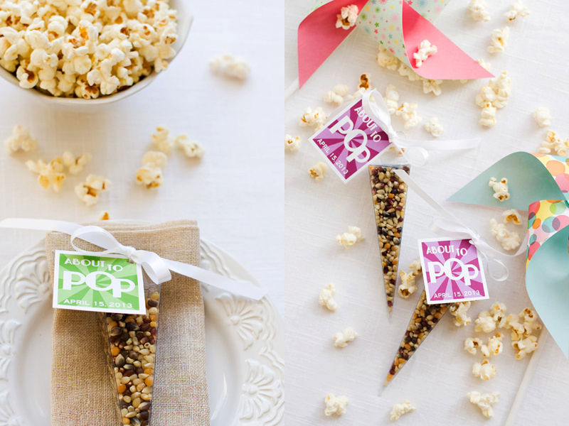 04-Thanks for Popping By - Popcorn Cone Favors (1)