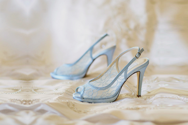 High Quality 06 Blue Lace Wedding Shoes