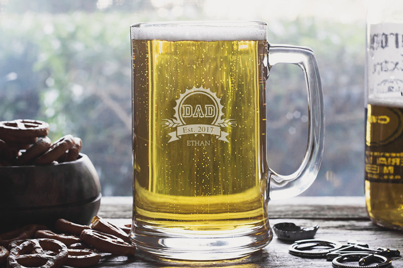 06-Personalized Beer Mug for Dad