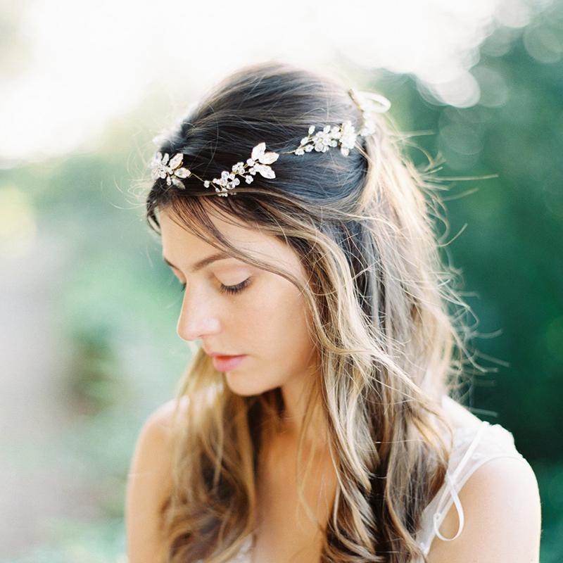 13-Bohemian Crystal Hair Vine
