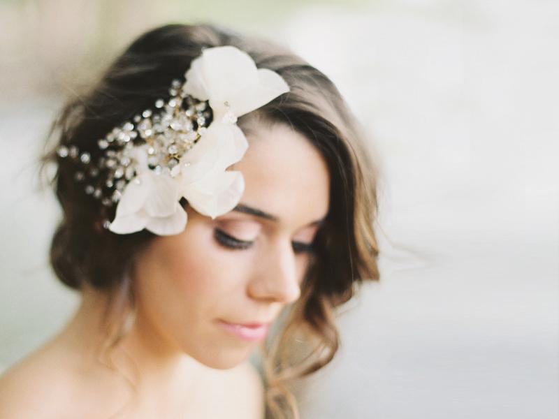 18-Floral Crystal Headpiece
