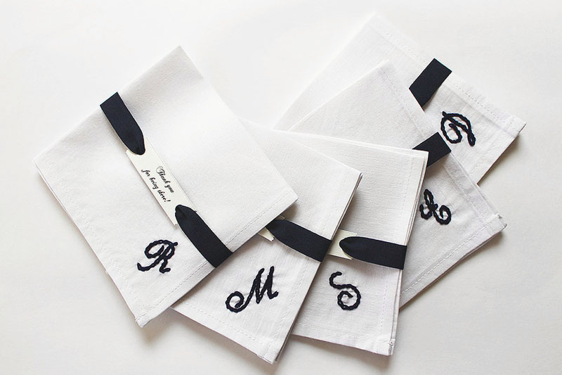 18-Set of 5 Personalized Pocket Squares