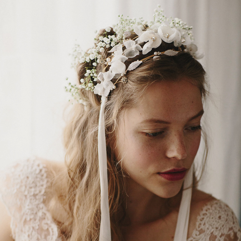 21-Tri Floral Silk Flower Crown