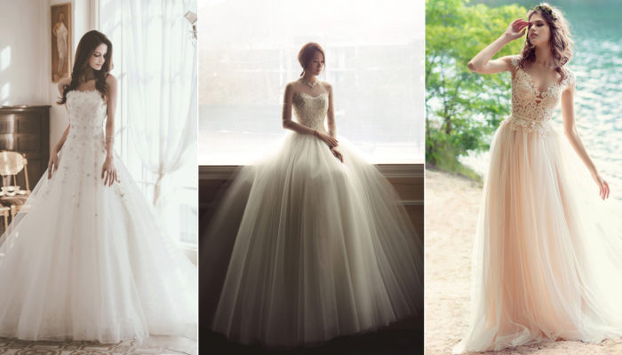 26 Dreamy Tulle Wedding Dresses Fit For Princess Brides!