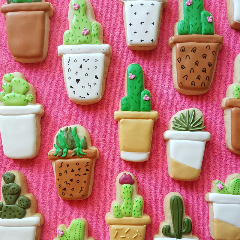 17-Potted Cactus Cookies