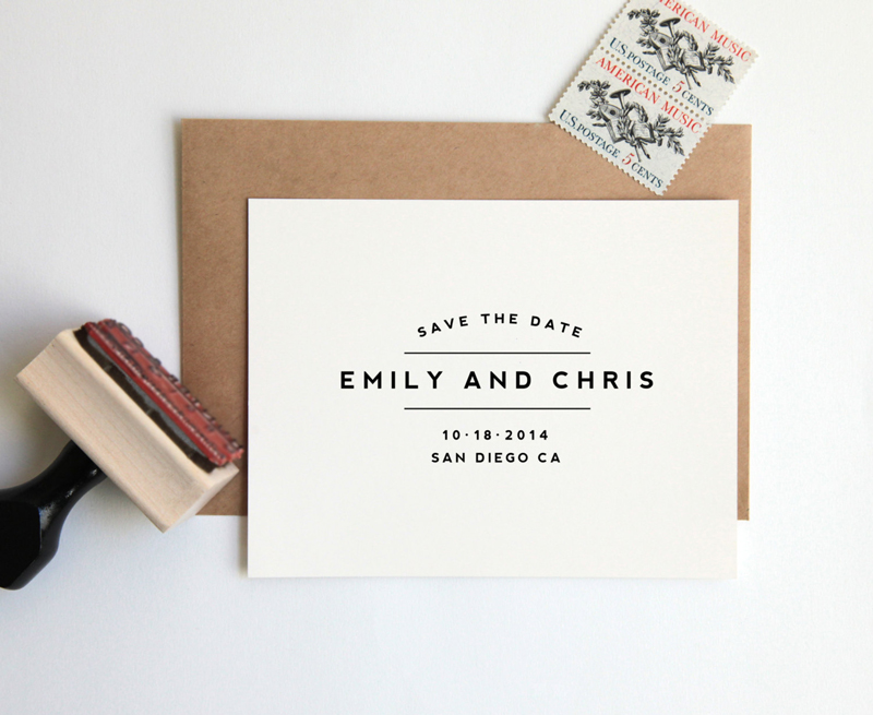 01-Custom Wedding Stamp