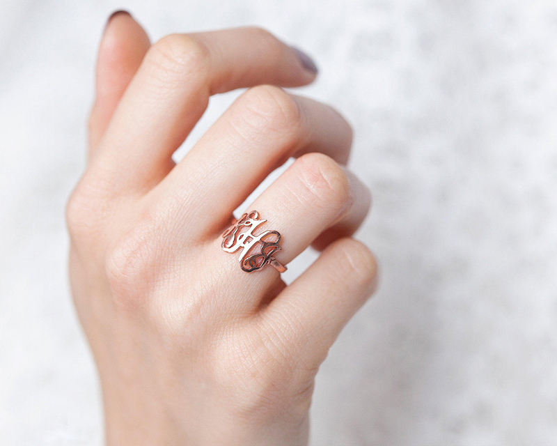 01-Gold Monogram Ring