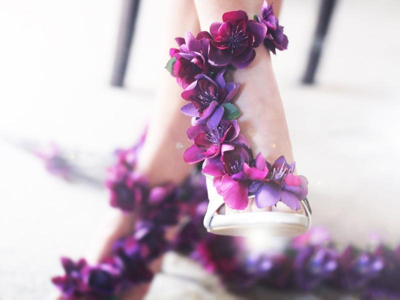 03-Pretty Rock Girl Purple Wedding Shoes