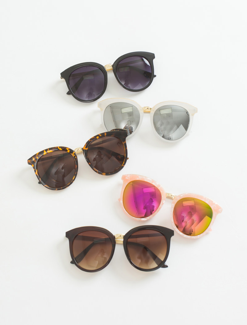 10-Bree Gold Rimmed Sunglasses