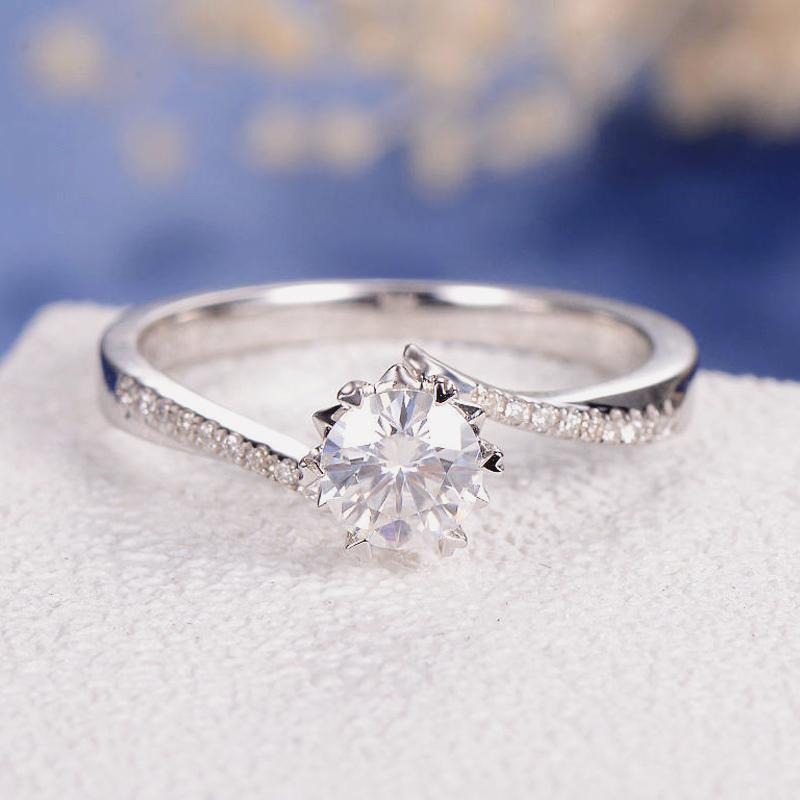 13-Moissanite Engagement Ring