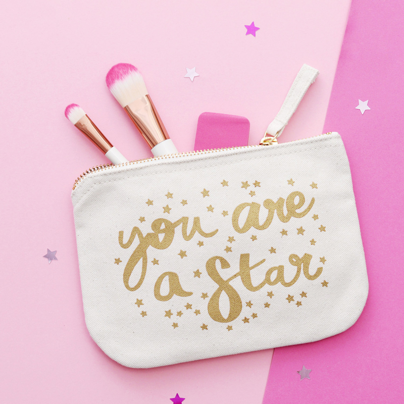 27-You Are A Star Makeup Bag