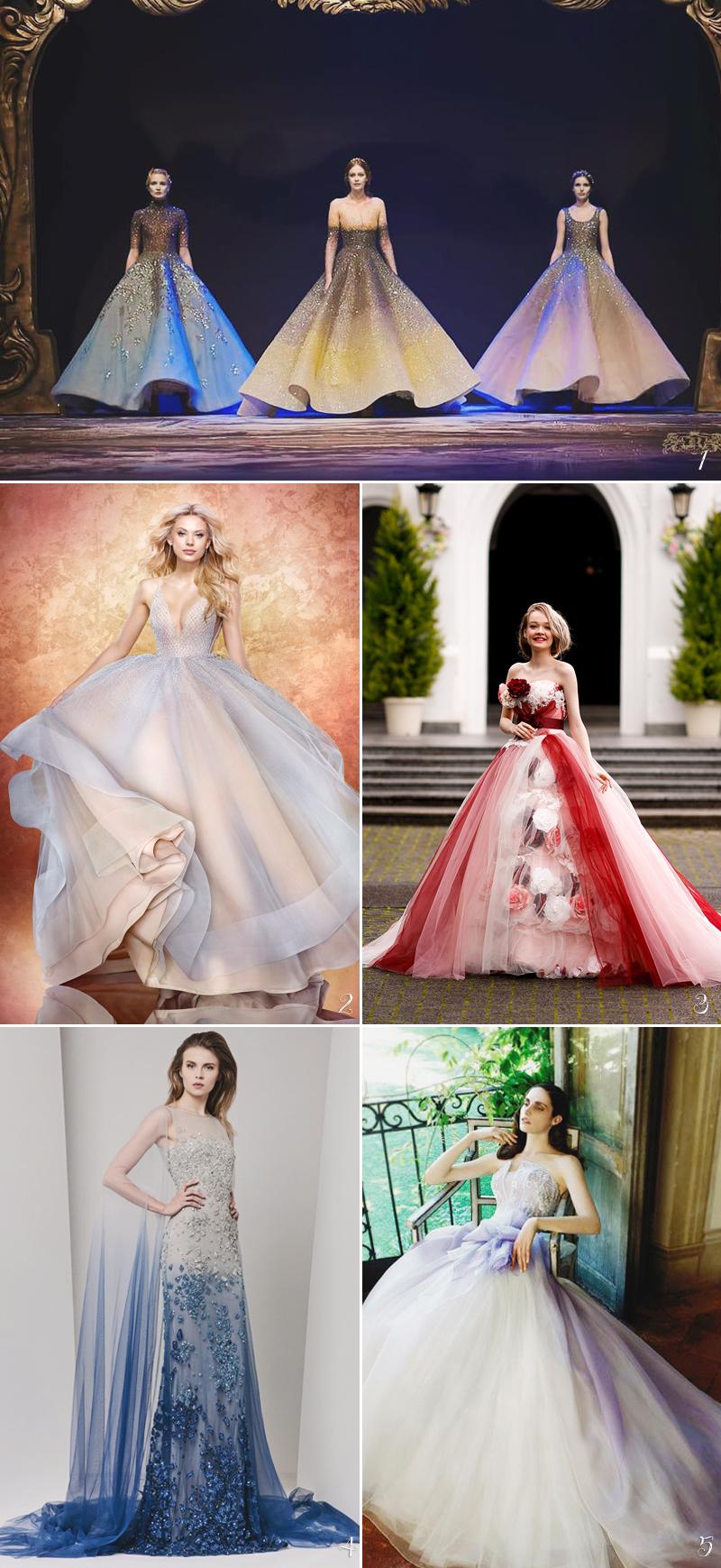 Color Wedding Dress02-ombre
