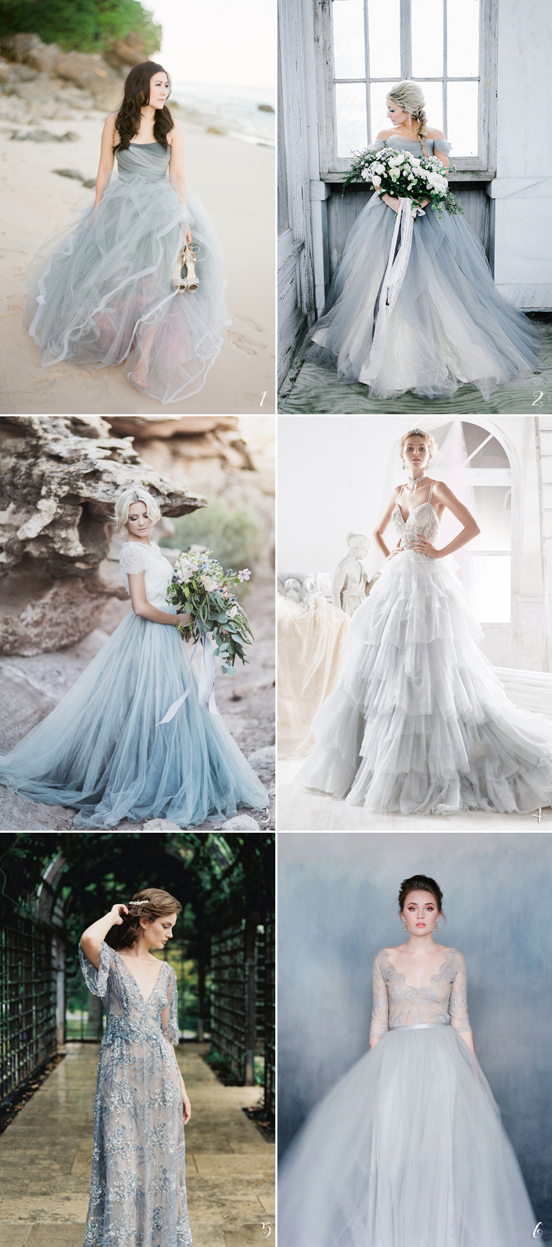 Color Wedding Dress03-smokyblue