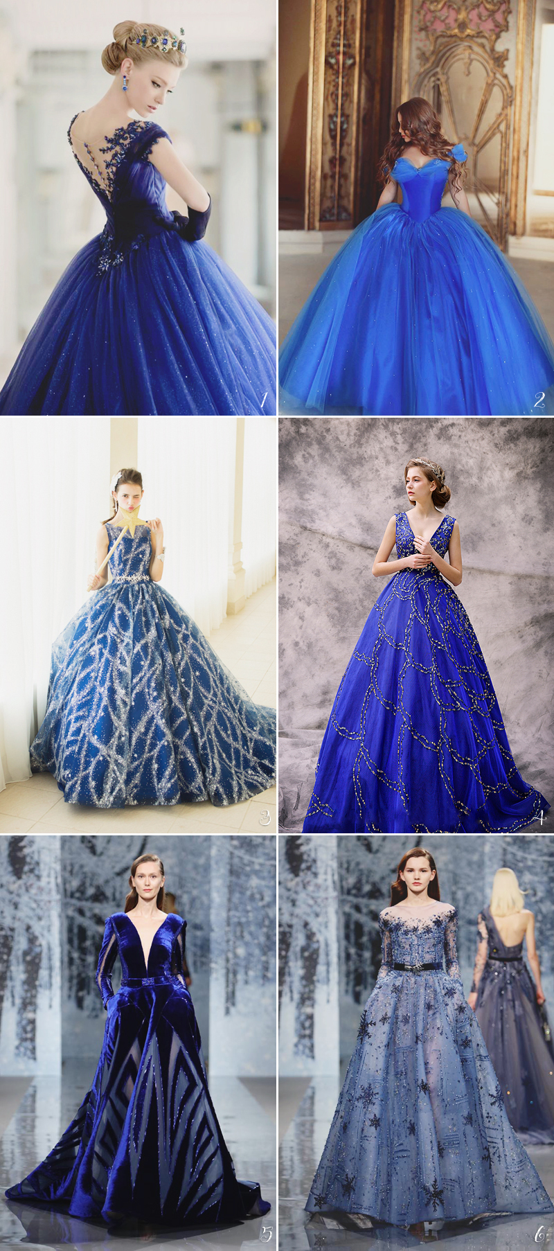 Color Wedding Dress05-starrynightblue