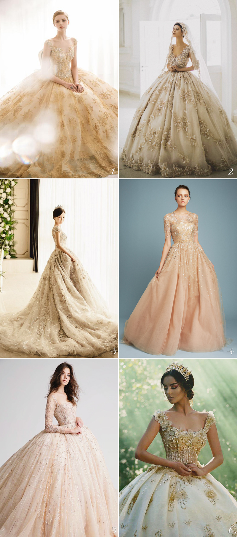 Color Wedding Dress06-gold