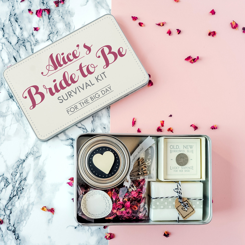 03-Personalised 'Bride To Be' Survival Kit