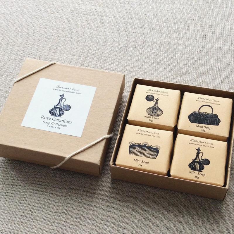 03-Rose Geranium Soap Gift Set