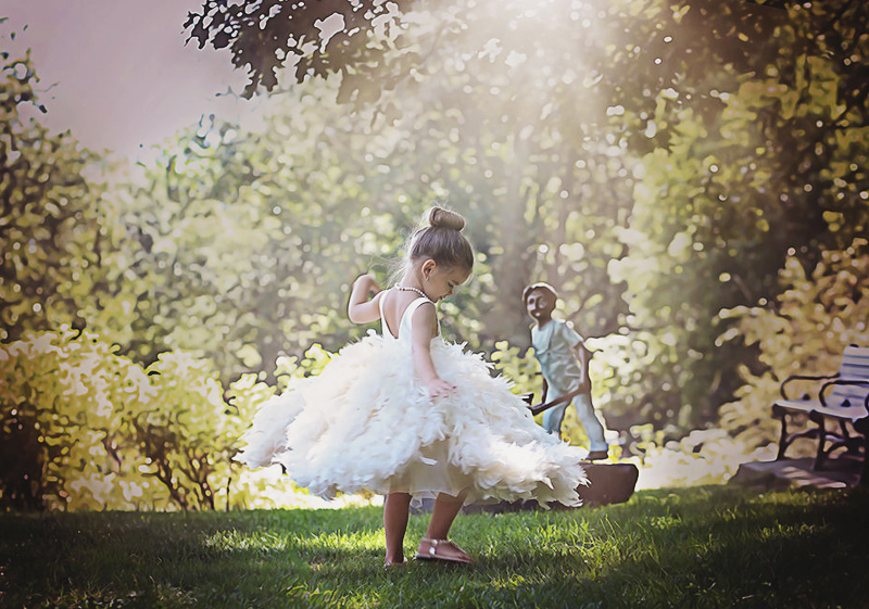 07-Shabby Chic Tutus Flower Girl Dress