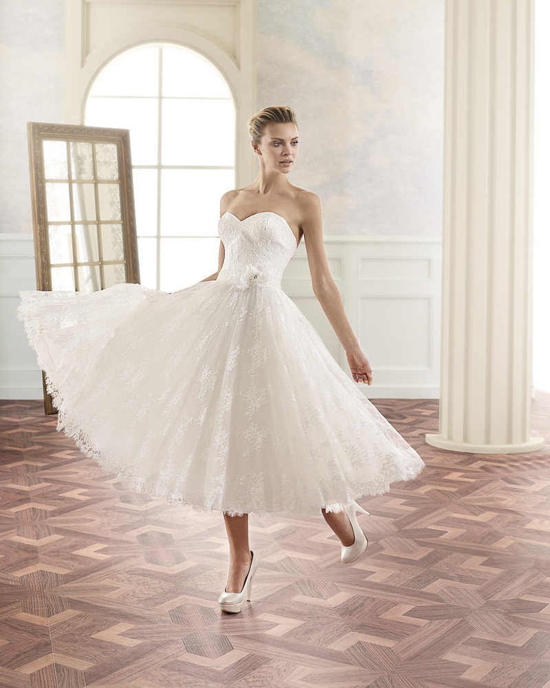 Tea Lenth Wedding Dress