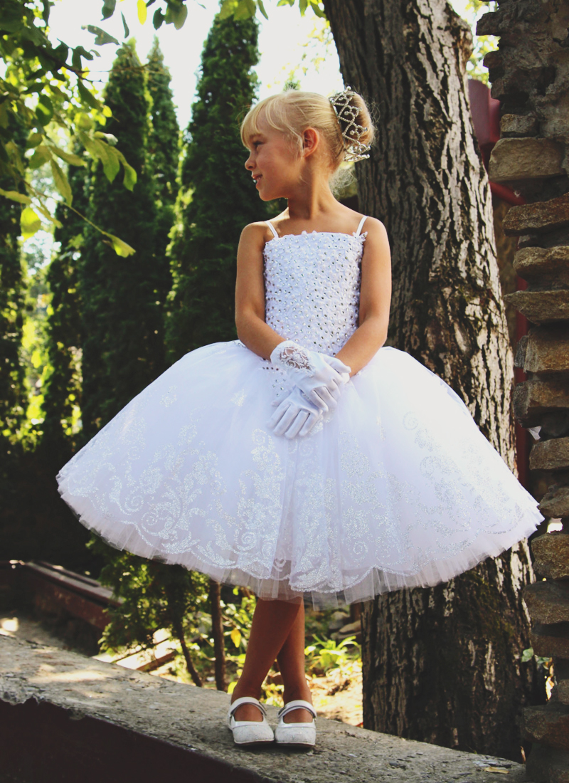 09-Glittering Flower Girl Dress