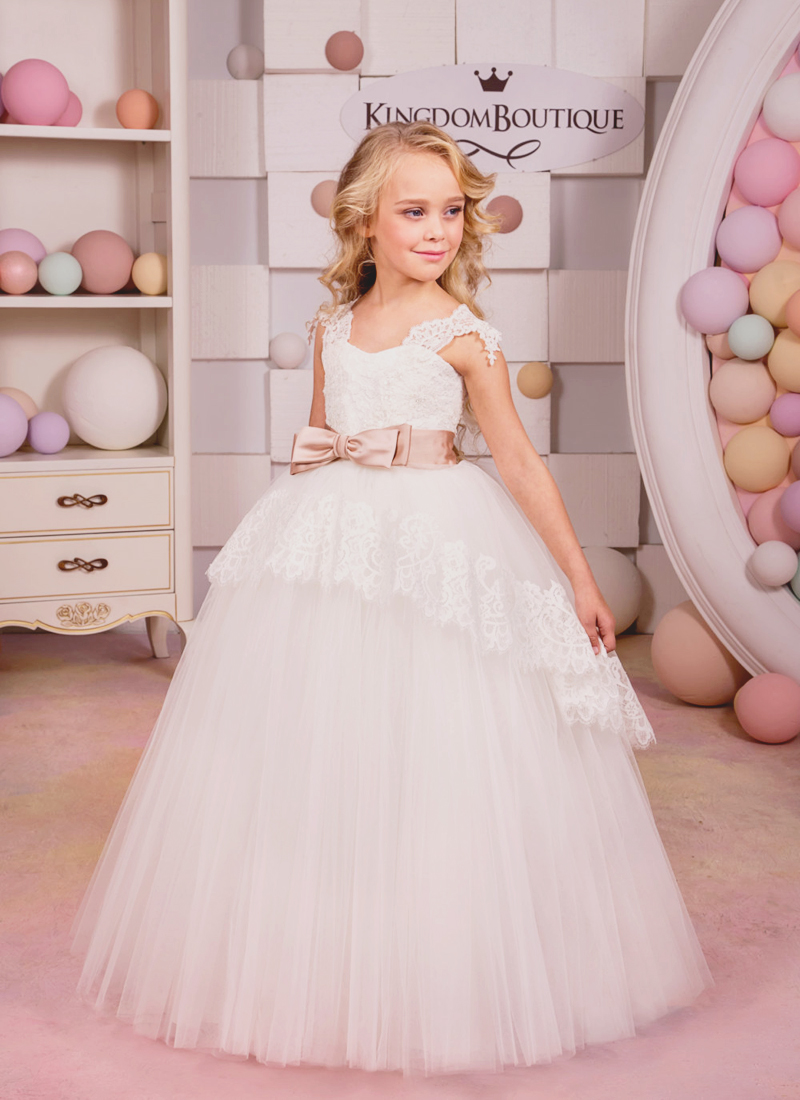 13-Ivory Flower Girl Dress