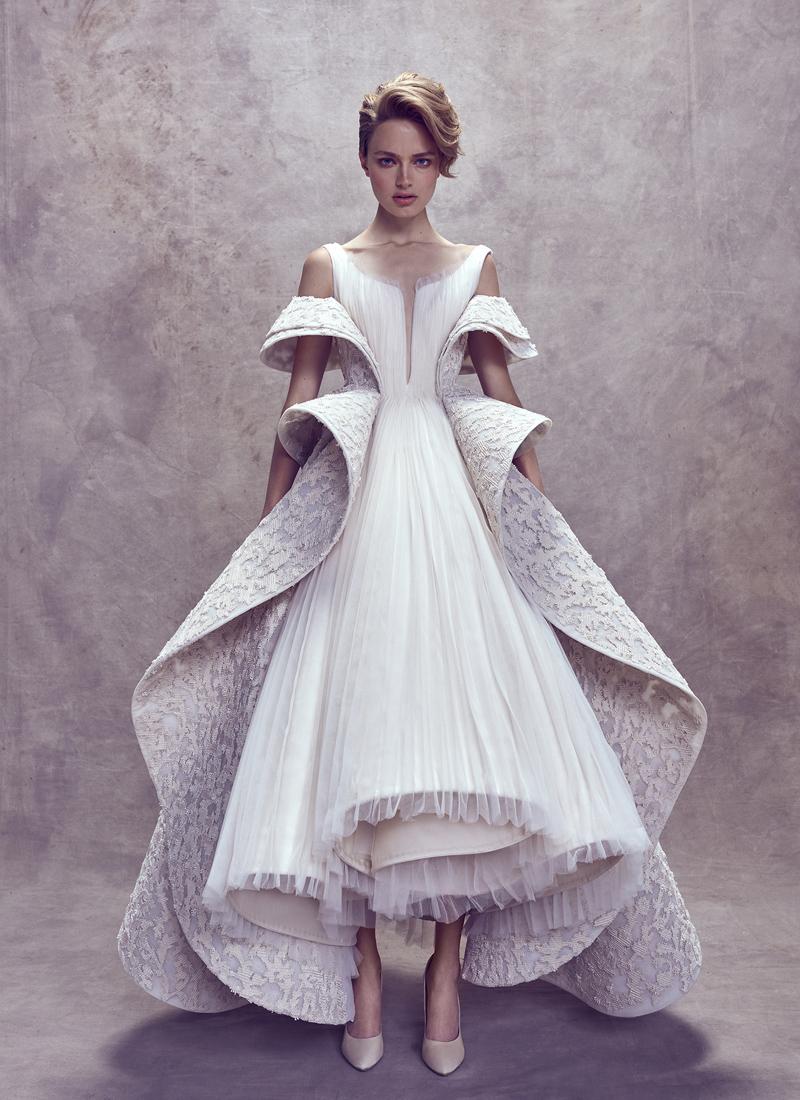 T Length Wedding Dress 34 Popular  Ashi Studio
