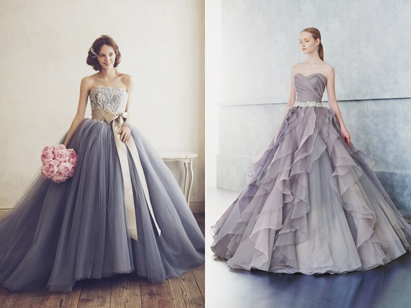 22 effortlessly dreamy grey wedding dresses for the