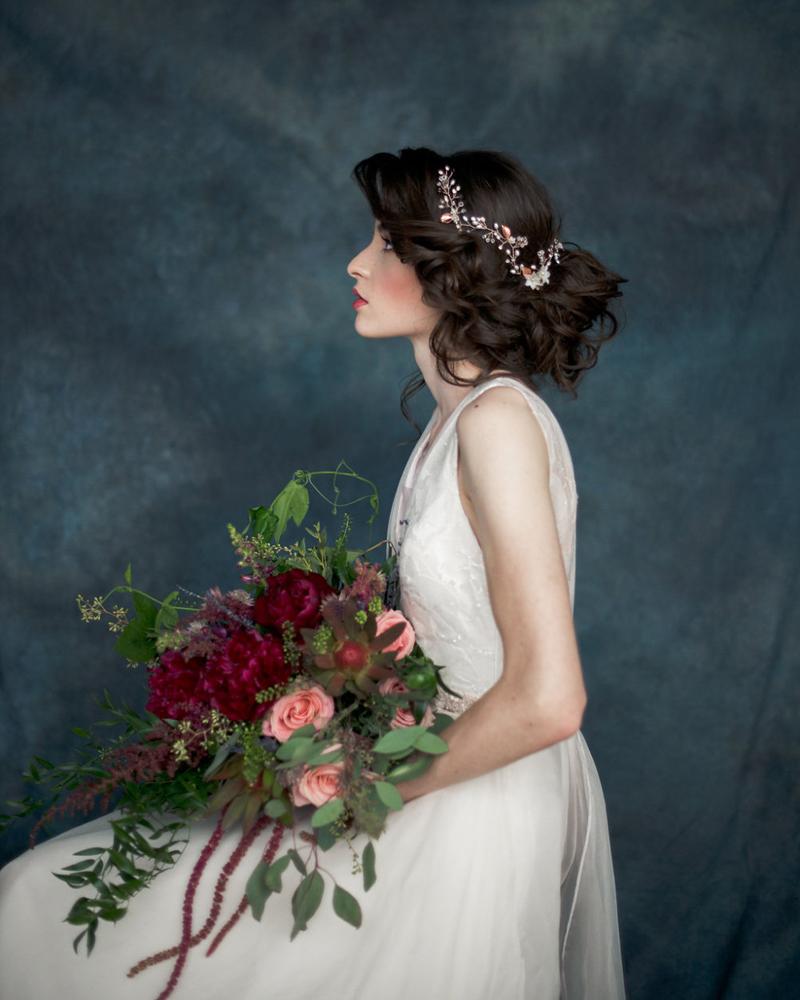 17-Rose Gold Hair Vine