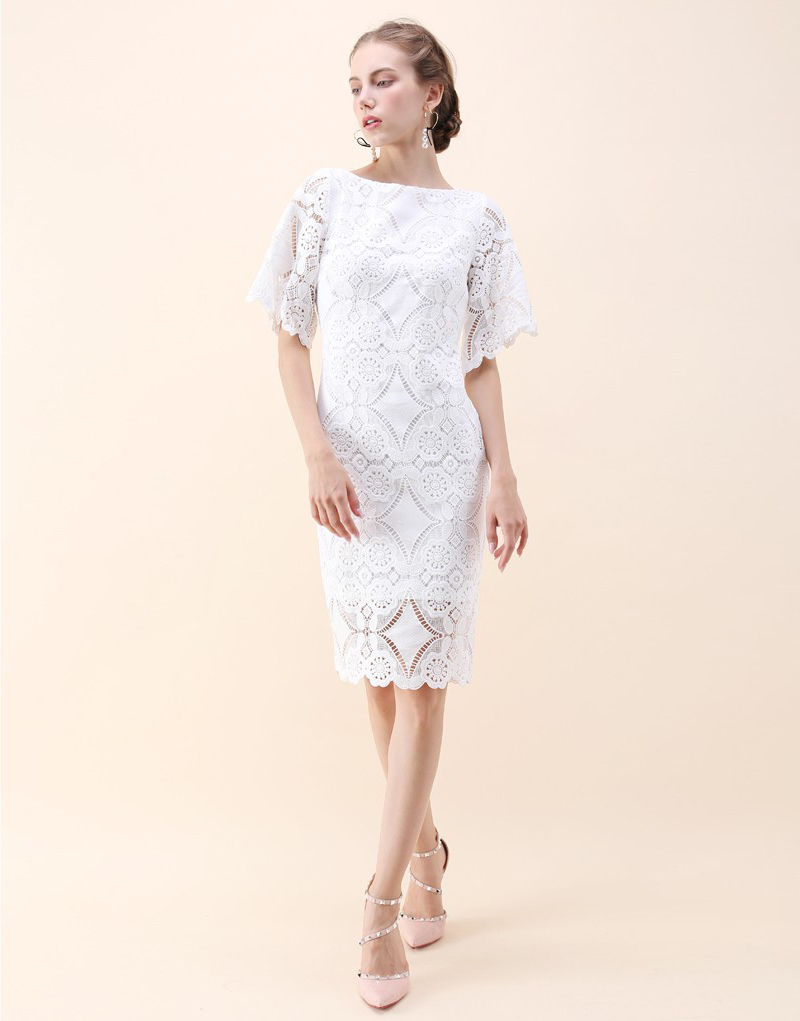19-Chic Wish Crochet Shift Dress