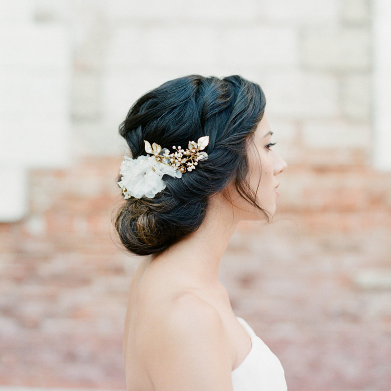 21-Silk Flower Bridal Headpiece