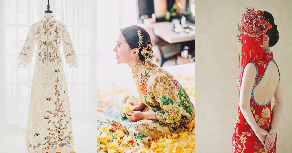 18 Beautiful Traditional Chinese Wedding Gowns With A Contemporary Twist Praise Wedding
