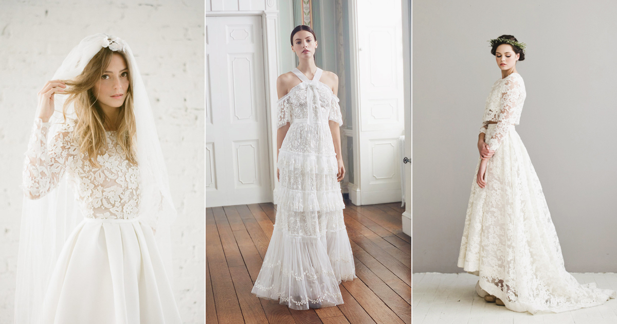 20 Simple Yet Beautiful Wedding Dresses For Modern Brides: 28 Modern Wedding Dresses For Minimalist Brides And