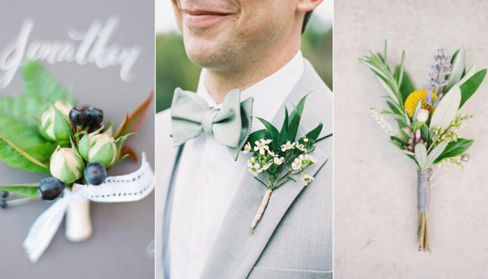 No More Girly Flowers! 20 Refreshing Boutonnieres Both You and Your Groom Will Love!