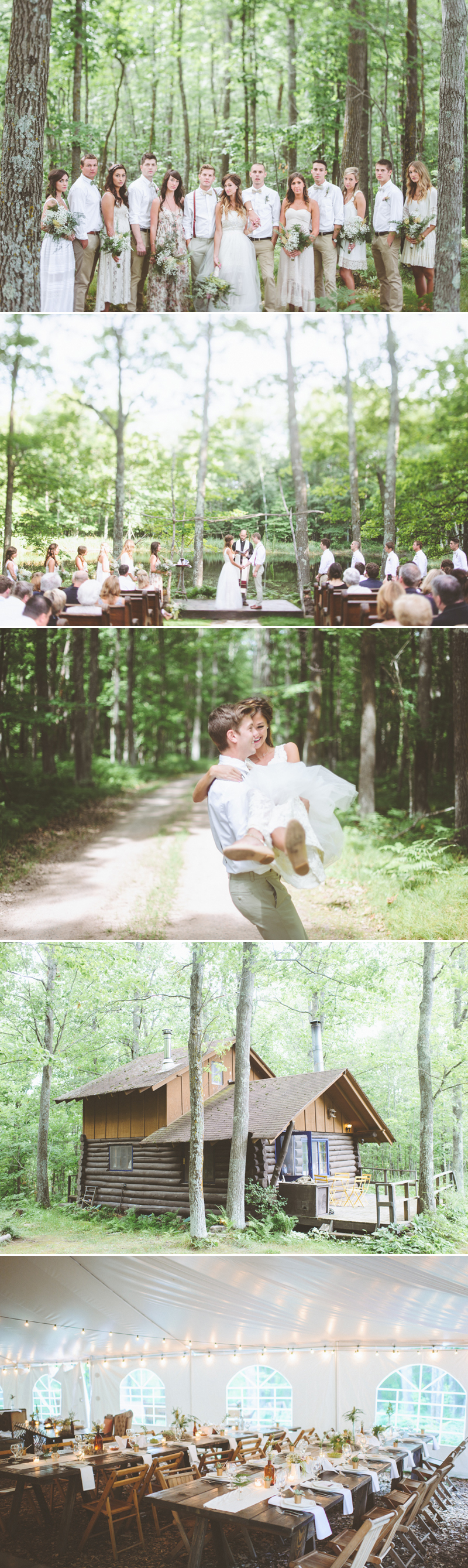 forestwedding02-Lakeside Forest House Wedding (photo by Paper Antler)