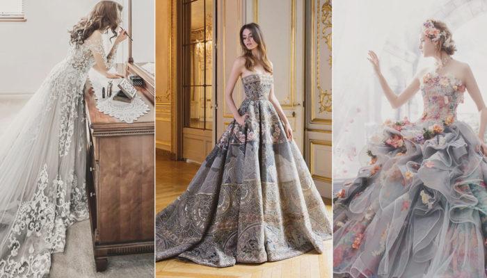 22 Effortlessly Dreamy Grey Wedding Dresses For the Romantic Bride!
