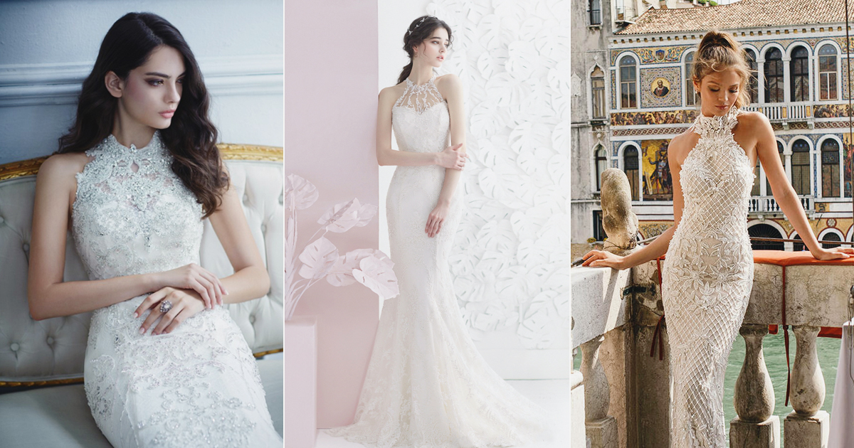 22 Fashion-Forward Halter Neck Wedding Dresses For Modern Brides ...