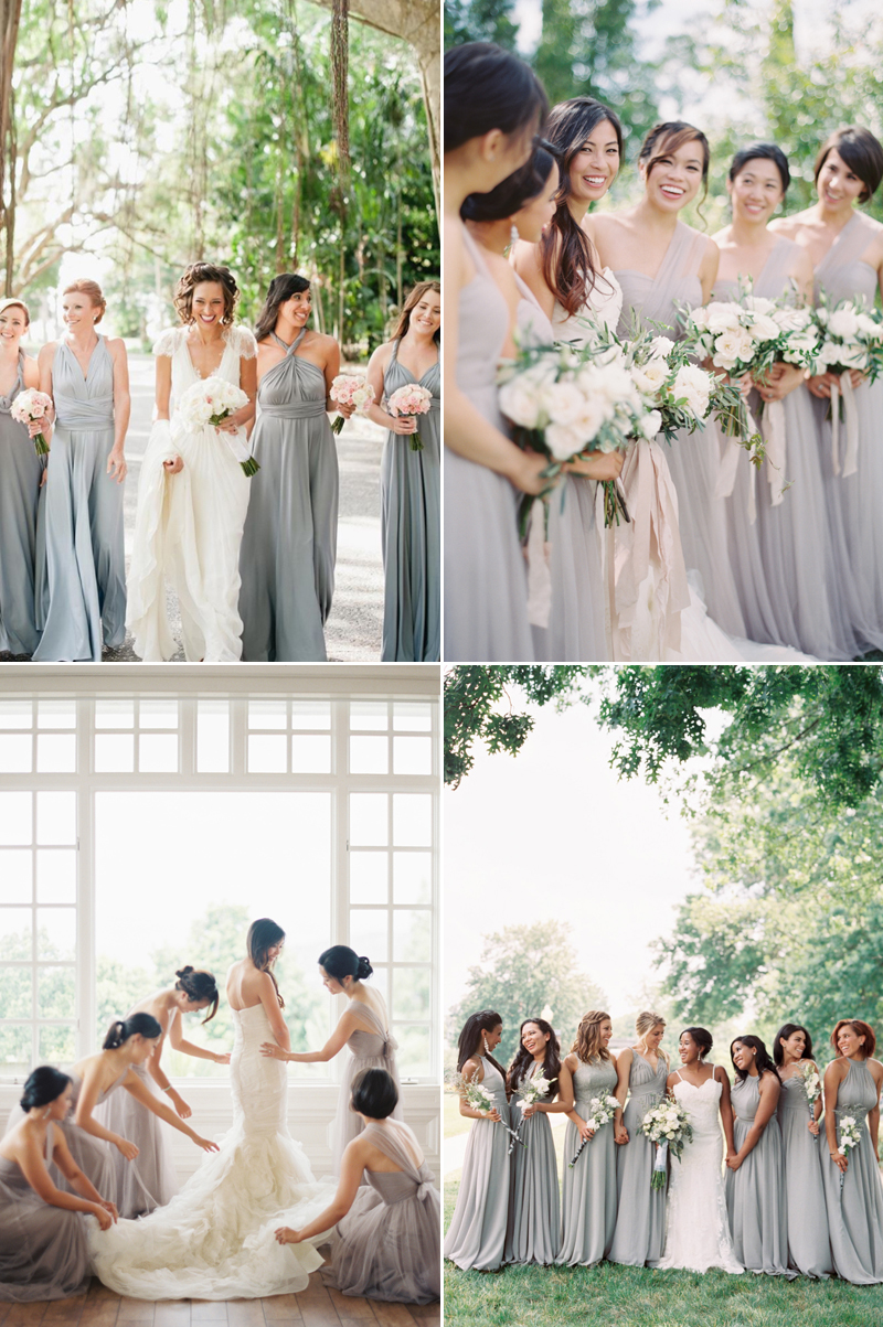 20 effortlessly beautiful neutral bridesmaid dresses praise wedding grey ombrellifo Image collections
