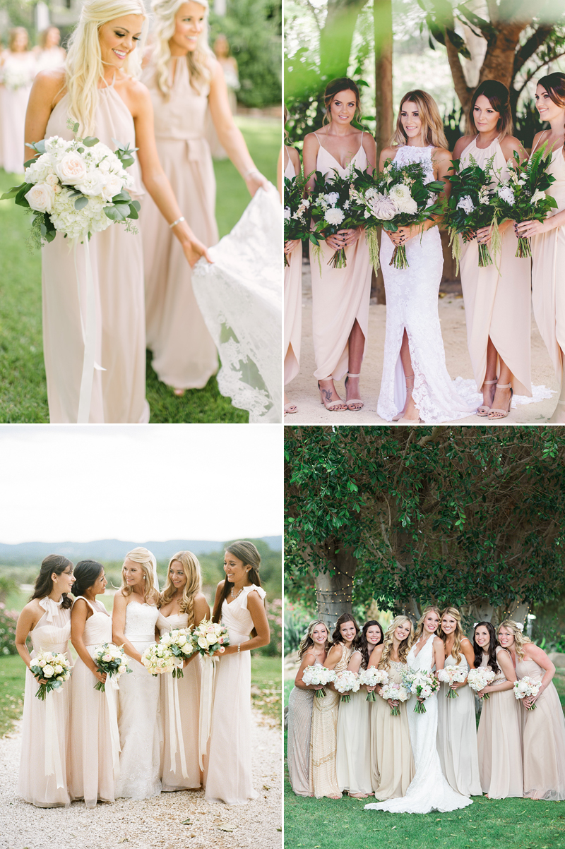 20 effortlessly beautiful neutral bridesmaid dresses praise wedding beige ombrellifo Image collections