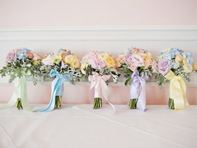 Pastel Rainbow Romance!  23 Colorful Rainbow Bouquets We Love!