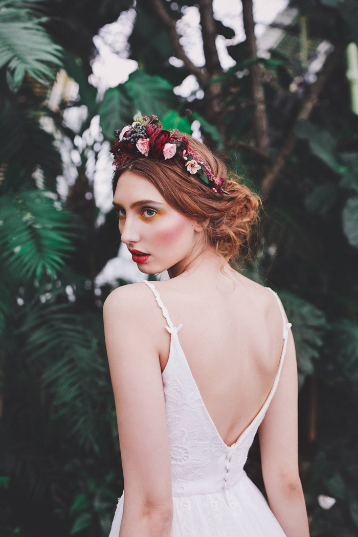 14-Red Burgundy Flower Crown